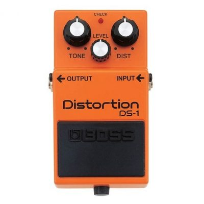 Boss DS-1 distortion pedal, guitar effects