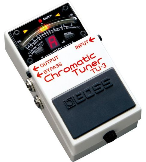 boss tu 3 chromatic pedal tuner for guitar bass tu3 guitar mania