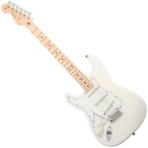 fender mex standard strat electric guitar arctic white mn left hand guitar mania. Black Bedroom Furniture Sets. Home Design Ideas