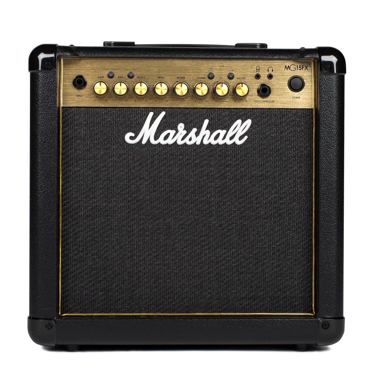 marshall mg15gfx 15 watt guitar amp combo black gold guitar mania. Black Bedroom Furniture Sets. Home Design Ideas