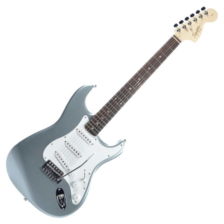 squier affinity strat sss silver