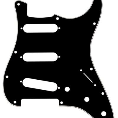 fender scratchplate black