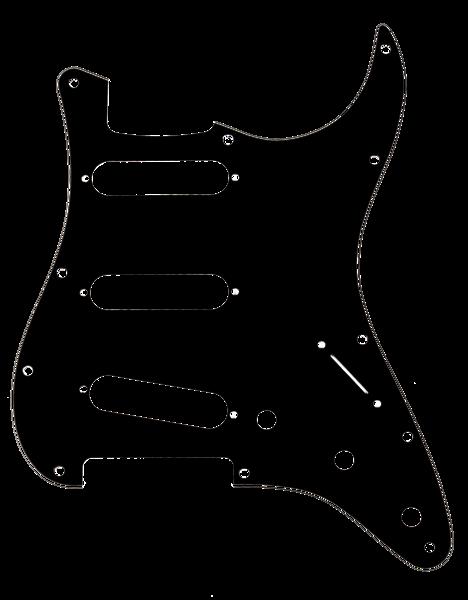 fender scratchplate black