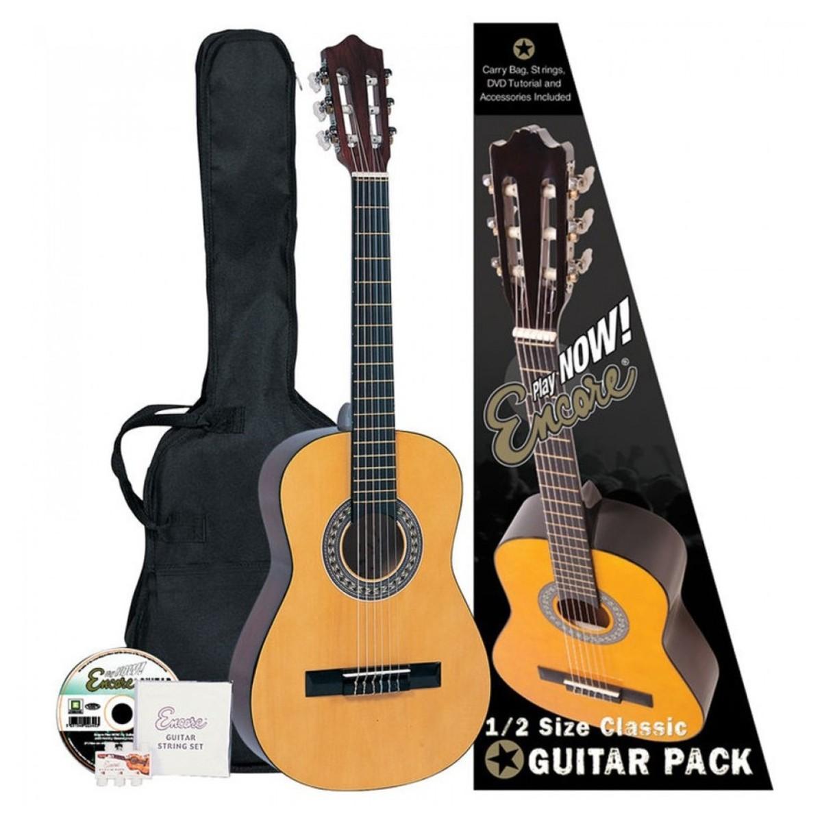 cc5a49dd75 Encore ENC120FT 1/2 size classical guitar pack inc soft case for ...