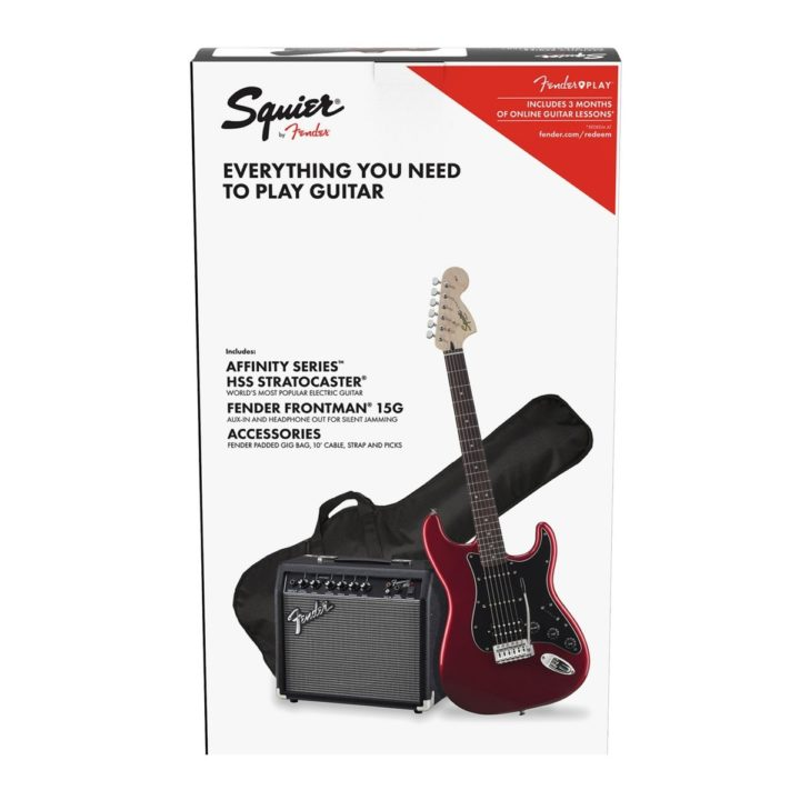 squier affinity strat pack red
