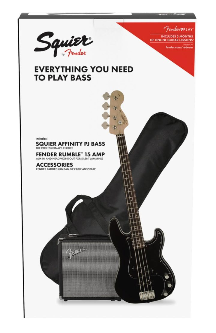 squier affinity pj bass pack