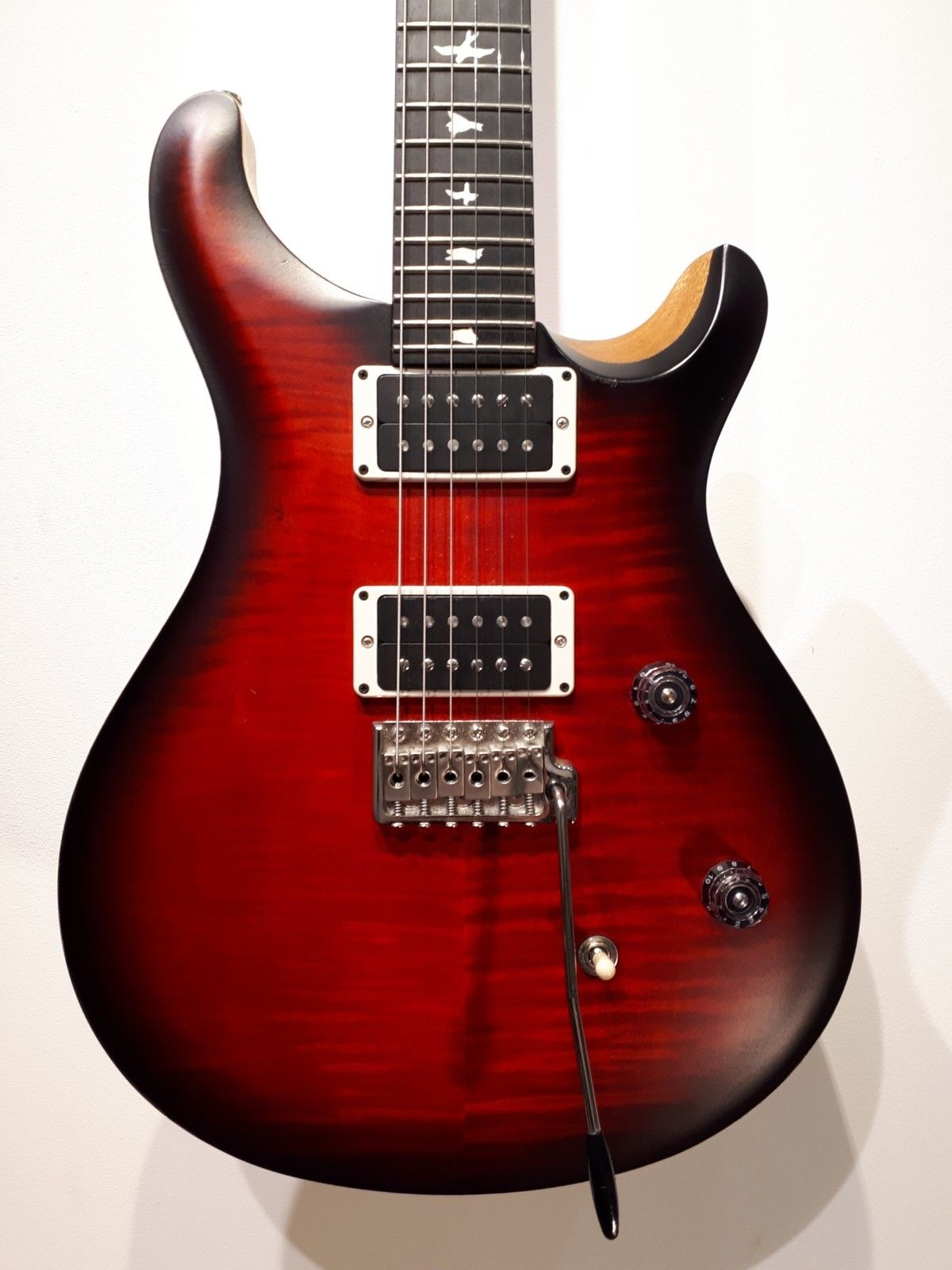 prs paul reed smith ce 24 usa made guitar fire red 2017 used guitar mania. Black Bedroom Furniture Sets. Home Design Ideas