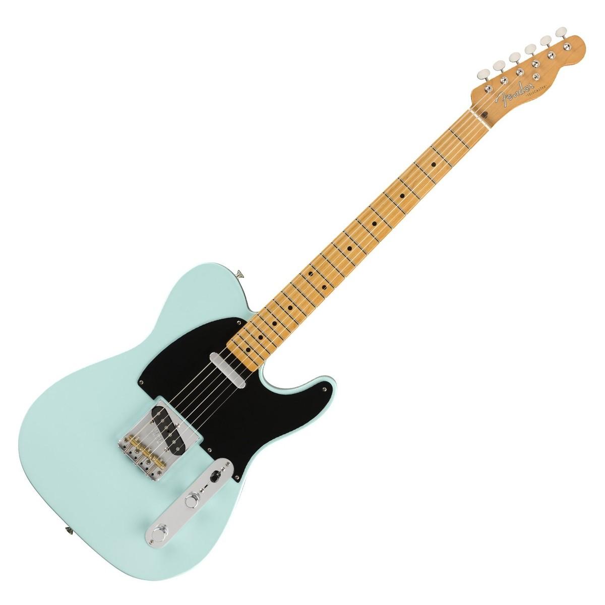 fender vintera series 50s mod telecaster mn daphne blue guitar mania. Black Bedroom Furniture Sets. Home Design Ideas